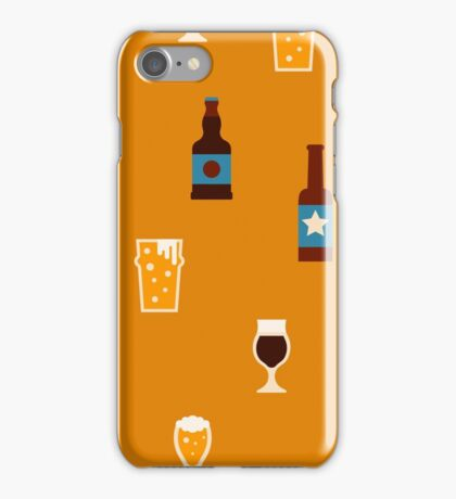 Craft beer glass and bottle icons iPhone Case/Skin