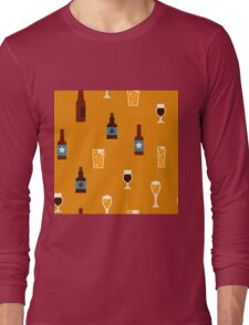 Craft beer glass and bottle icons Long Sleeve T-Shirt