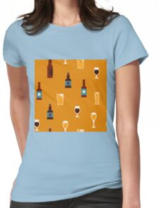 Craft beer glass and bottle icons Womens Fitted T-Shirt