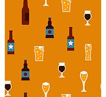 Craft beer glass and bottle icons Photographic Print