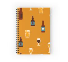 Craft beer glass and bottle icons Spiral Notebook