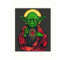 Holy Jedi Master Art Print