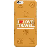 Travel concept seamless orange background iPhone Case/Skin