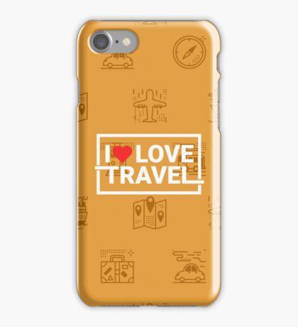Travel concept seamless orange background iPhone Case/Skin