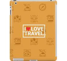 Travel concept seamless orange background iPad Case/Skin