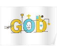 God word lettering typography design illustration Poster