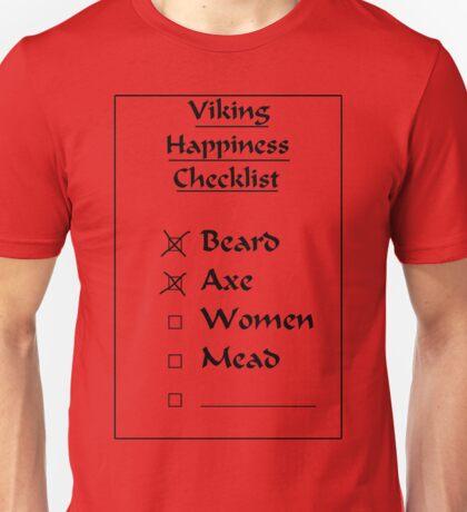 Viking Happiness Checklist Unisex T-Shirt