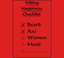 Viking Happiness Checklist Unisex T-Shirt