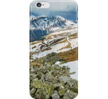 Mountain range in the spring iPhone Case/Skin