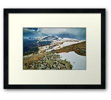 Mountain range in the spring Framed Print