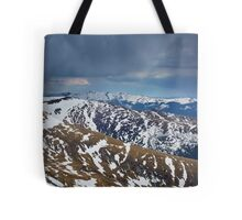Mountain range in the spring Tote Bag