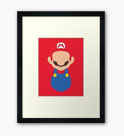 Minimal Super Mario Bros Framed Print