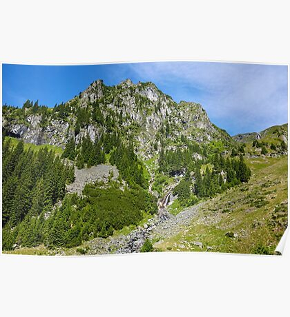 Mountains landscape in a sunny day Poster
