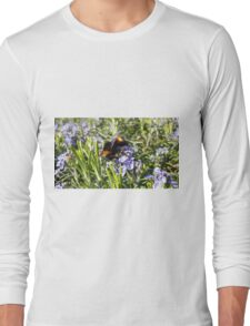 Busy Bee on Rosemary Flowers Long Sleeve T-Shirt