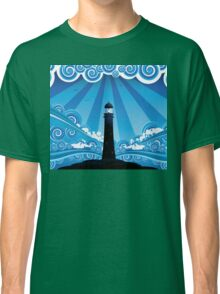 Lighthouse in the Sea 4 Classic T-Shirt