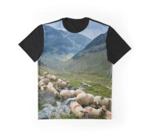 Sheep on the mountain Graphic T-Shirt