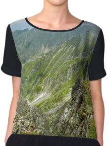 Mountaineous summer landscape Chiffon Top