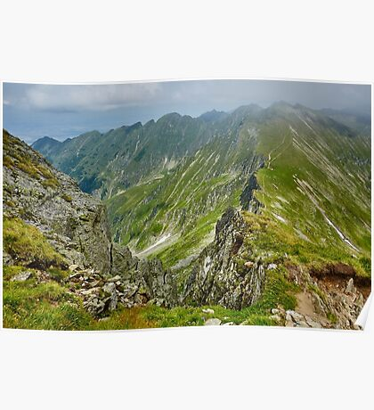Mountaineous summer landscape Poster