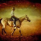 Riding off into the Sunset by Clare Colins