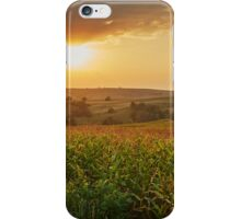 Corn field at sunset iPhone Case/Skin