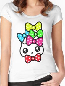 Ribbon Kitty Women's Fitted Scoop T-Shirt