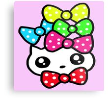 Ribbon Kitty Metal Print