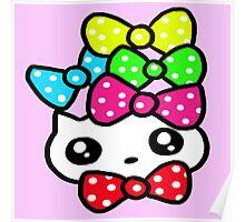 Ribbon Kitty Poster