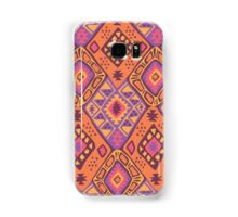 Aztec Tribal Pattern - Orange/Pink Samsung Galaxy Case/Skin