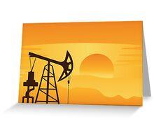 Oil Pump at Sunset Greeting Card
