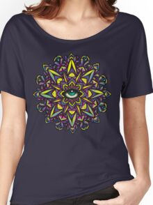 Dharma Wheel Neon Mandala Women's Relaxed Fit T-Shirt