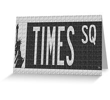 Times Square New York City Street Sign Deco Swing Greeting Card
