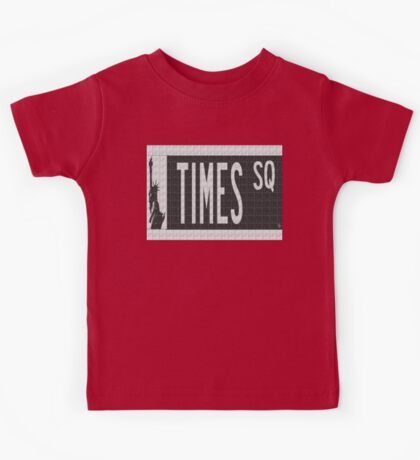 Times Square New York City Street Sign Deco Swing Kids Tee