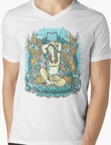 Mexican American Goddess Chicano Vintage LA Pinup Mens V-Neck T-Shirt