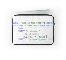 Computer Nerd Stop-Wait a Minute Laptop Sleeve