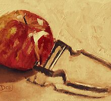 Apple Peeling by Jaana Day