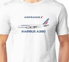 Illustration of Air France Airbus A380  Unisex T-Shirt