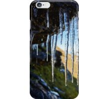 Icicles on a mountain cliff iPhone Case/Skin