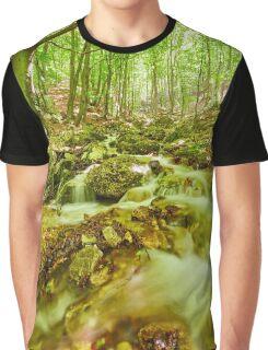 River flowing through rocks Graphic T-Shirt