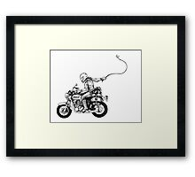 Women Who Ride- We are Wolfman Framed Print
