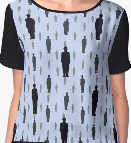 By Rene Magritte Golconda.  Chiffon Top