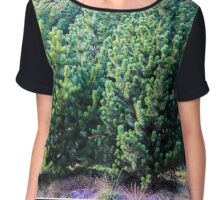 Green forest Chiffon Top