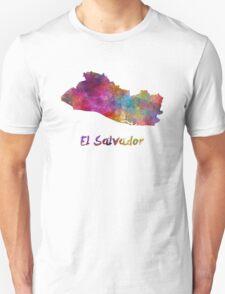El Salvador in watercolor Unisex T-Shirt
