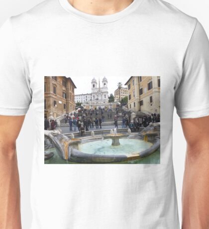 Famous Piazza Di Spagna in Rome, Italy Unisex T-Shirt