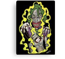 The Joker Pulling Batman's Strings Canvas Print