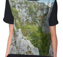 Rocky trail on mountains Chiffon Top