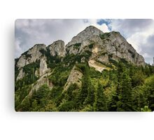 Landscape with mountains and clouds Canvas Print