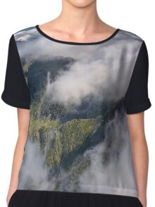 Mountain scene Chiffon Top