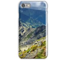 Mountain landscape on summer iPhone Case/Skin