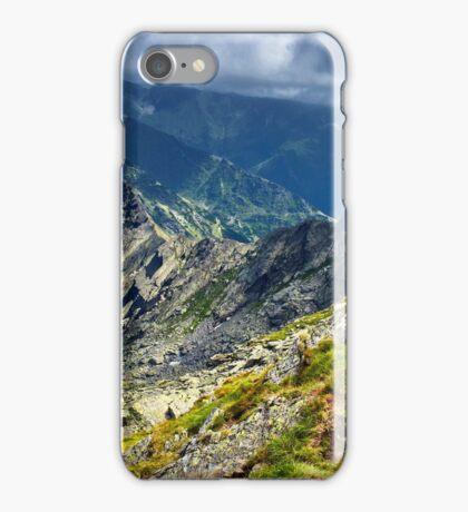 Mountain landscape on summer iPhone Case/Skin