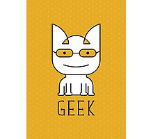 Cat Geek Mode Photographic Print